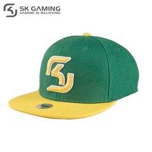 Бейсболка SK Gaming мужская зеленая с прямым козырьком
