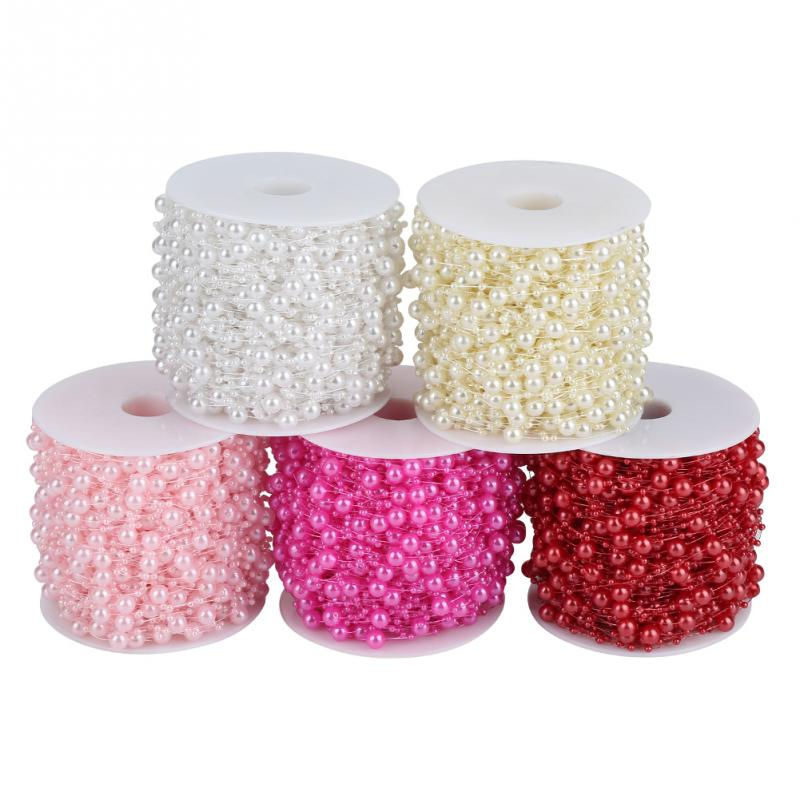 60m/roll Grinding Pearl Wire Beads Garland String DIY