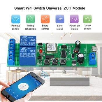 eWeLink Smart Wifi Switch Universal Module 2CH USB DC5V/7-32V