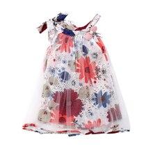 цена на Princess Girl Lace Dress Big Flower Mesh Newborn Kids Cloth Baby Girls Sleeveless Hot Floral Dress Party Pageant Tutu Dress
