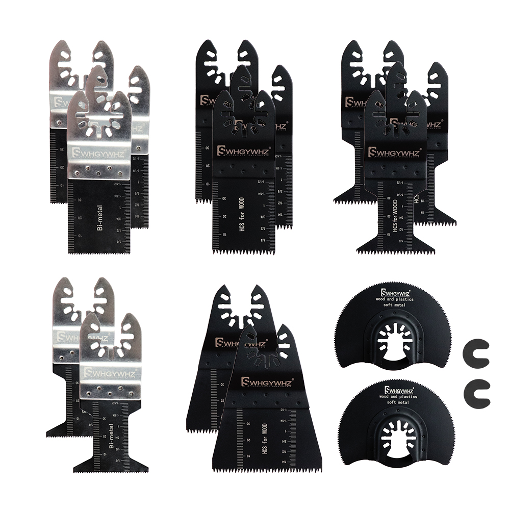 Hot Sale 15Pcs/set Oscillating Multitool Reciprocating Saw Blade Woodworking Accessories Kit DIY Cutting Power Tools