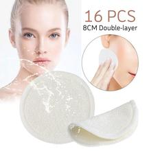 16 PCS 8CM Double-layer Makeup Remover Pads Safe Natural Fiber No Pollution Reusable Cleaning For Face Eye Nose