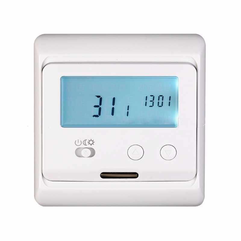 يجب ألا البرمجة الكريستال السائل درجة الحرارة التحكم الجهاز LCD الأبيض يكون في الفقراء الطابق التدفئة الكهربائية لاند الدافئة V3