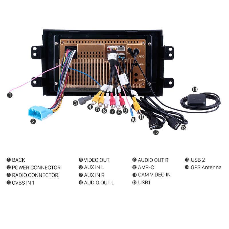 Seicane 車ラジオ 2006-2012 スズキ SX4 アンドロイド 8.1 9 インチ 2Din HD タッチスクリーン GPS マルチメディアプレーヤーサポートブルートゥース無線 Lan