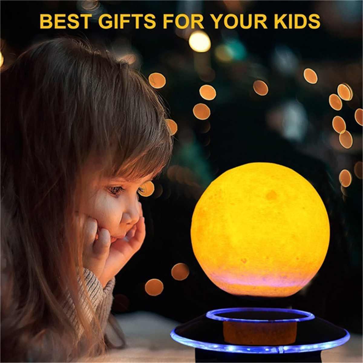 3D магнитная левитация Лунная лампа светодио дный светодиодный ночник 3D печать лунный свет домашний декор светодио дный светодиодный Цвет И