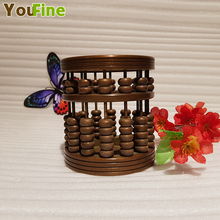 Chinese style vintage bronze brass abacus pen holder handmade ancient craft supplies ornaments