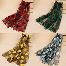 Hot 2018 new yarn Silk transparent women flower scarf wholesale popular Embroidery Female Long Fashion
