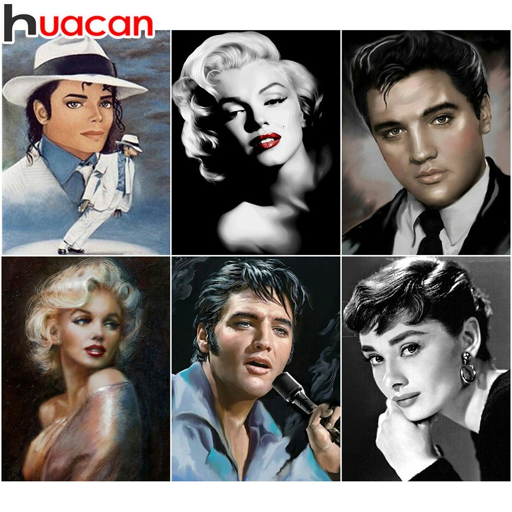 Elvis Marilyn Monroe Us 4 83 30 Off Huacan Elvis 5d Diy Diamond Painting Michael Jackson Full Drill Square Marilyn Monroe Diamond Embroidery Picture Of Rhinestone In