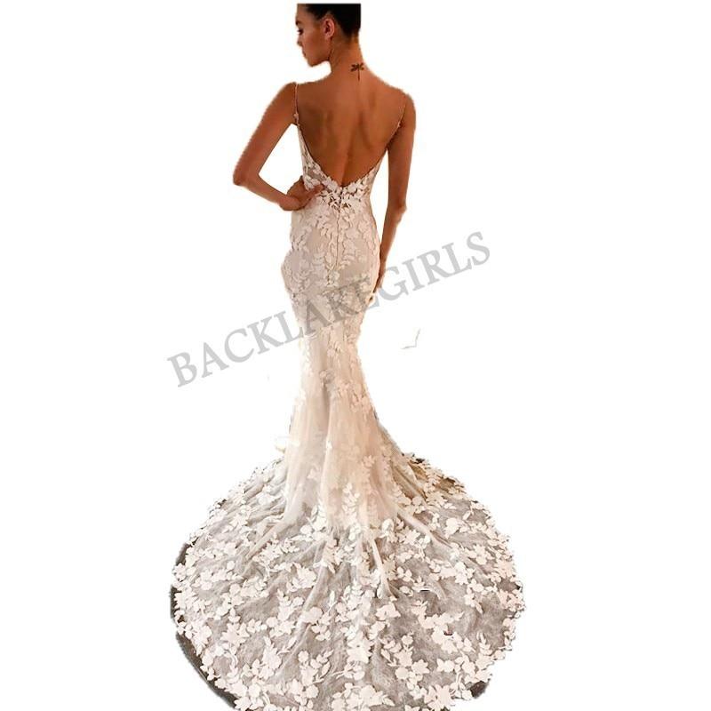 Vestidos De Noiva 2019 Sexy Backless Wedding Dresses