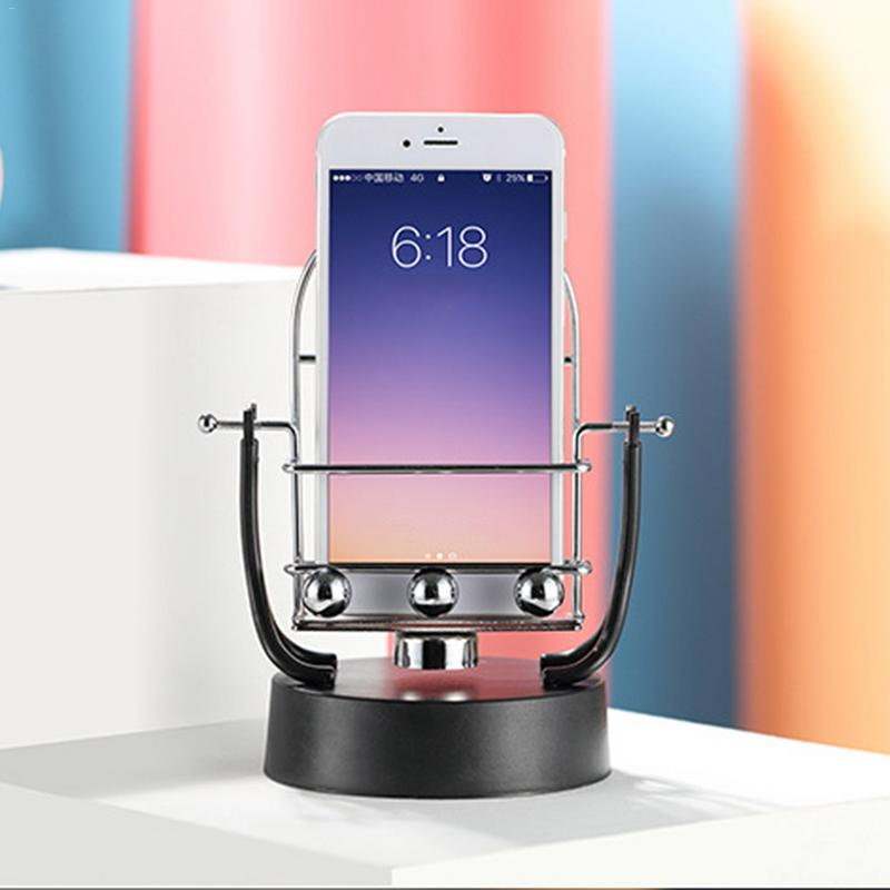 Mobile Phone Holders & Stands Hearty Novel Revolving Swing Balance Ball Phone Holder Amount Perpetual Motion Physics Intelligent Automatic Pedometer Phone Holder