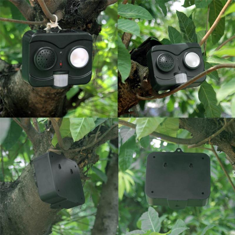 Image 4 - 6.5V Solar Energy Acousto Optic Bird Repeller Repellent Deterrent Pigeon Scarer Strong Ultrasonic Wave Bird Scare Pest Control-in Repellents from Home & Garden