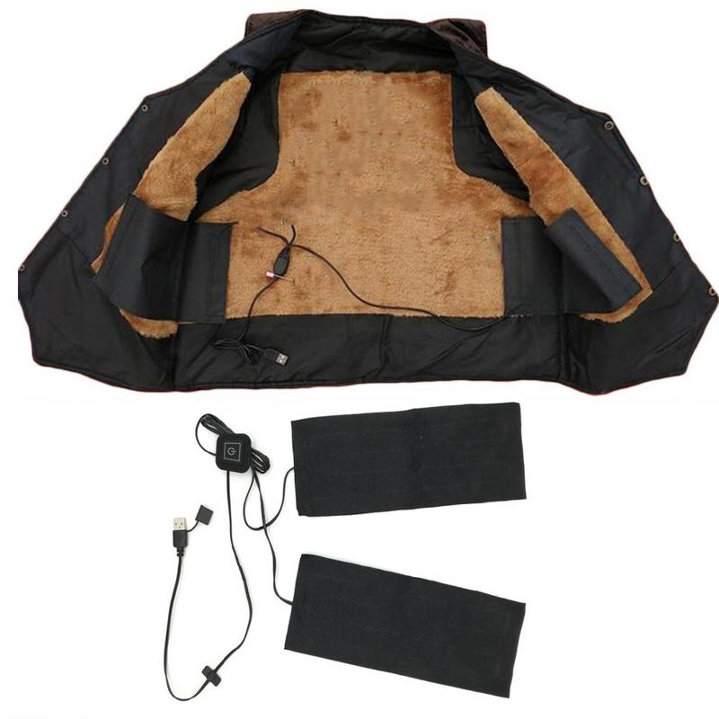 4-in-1 9W USB Electric Heated Jacket Pants Heating Pad Washable Outdoor Themal Warm Winter Heating Vest Pads DIY Warm Gear