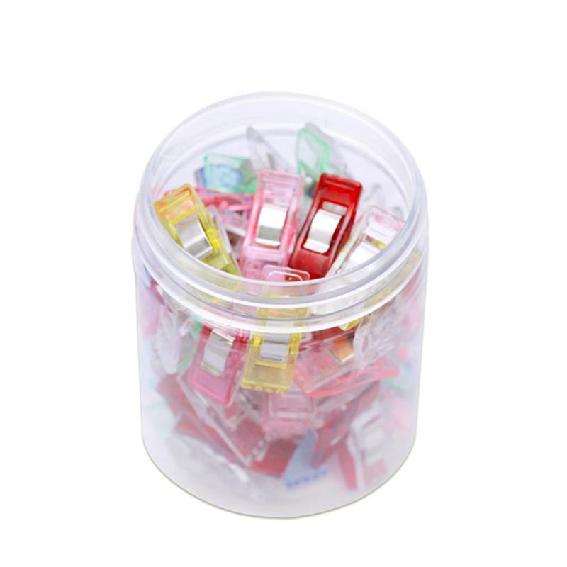 50pcs/lot Multi Quilting Patchwork Sewing Clips Photo Plastic Hemming Clip