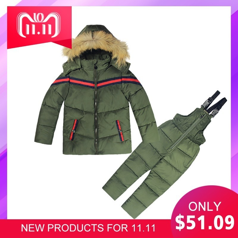 Russia Winter Kids Clothes Boys Girls Cotton Snow Coat Children Warm Jacket Toddler Snowsuit Outerwear Romper Clothing Set 1-5 Y farm hand forged spring steel sickle king chai sickle weeding knife grinding the blade free firewood