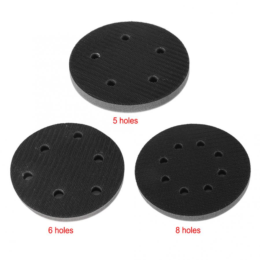 Set of 5 5 Inch Soft Density Interface Pads Hook and Loop 5 Sponge Cushion Buffer Backing Pad