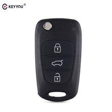 KEYYOU 20X Remote Key Shell 3 ปุ่มสำหรับHyundai Avante Elantra I30 I40 I20 IX35 Flip Folding Remote Keyกรณี