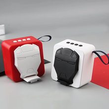 Portable Bluetooth Speaker Iron Man Mask Mini Mobile Phone Stand Speaker Strong Bass For Iphone Computer Xiaomi Toys Loudspeaker portable bluetooth speaker iron man mask mini mobile phone stand speaker strong bass for iphone computer xiaomi toys loudspeaker