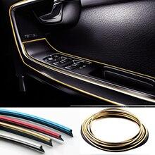 5 M DIY Universele Auto Auto Motor Interieur Exterieur Plated Moulding Trim Strip Lijn Protection Strip Scratch Protector Decor