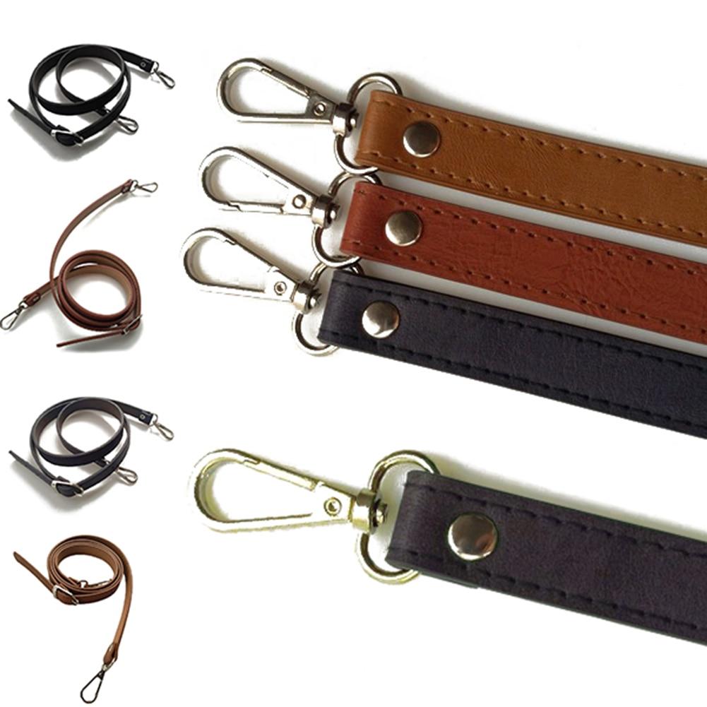 Adjustable PU Leather Crossbody Shoulder Bag Strap Handle 1.2cm Wide Brown