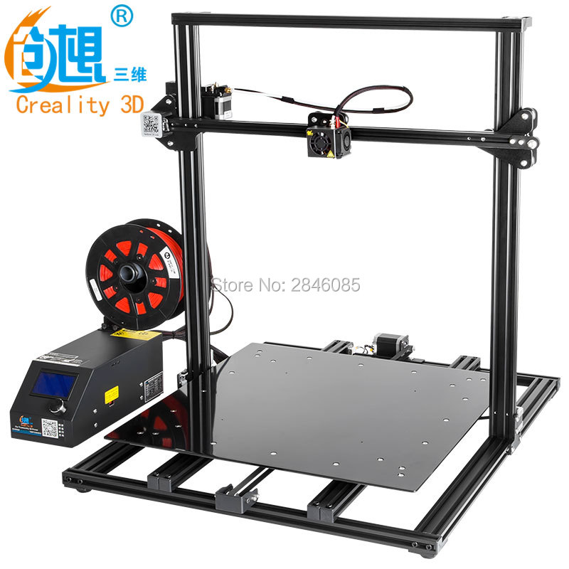 CREALITY 3D FDM Printing CR-10 S5 500*500*500mm Size Metal V-slot Frame 3D Printer kit Filament Support printer creality 3d cr 10 series large 3d printer large printing size 500 500 500mm diy kit 3d printing machine with aluminum hotbed