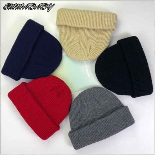 62b30d72ef3e4 1pc Unisex Men Women Beanie Hat Warm Ribbed Winter Turn Ski Fisherman Docker  Hat Winter Warm
