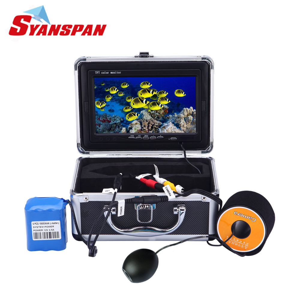 SYANSPAN Infrared Underwater Fish Finder Video Camera for Fishing 7 TFT LCD Monitor IP68 HD 1000TVL