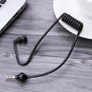 Image 4 - 3.5mm In Ear Anti radiation Single Earphone Listening Air Tube Stereo Coiled Cables Mono Function Earpiece In Ear Stereo Headset