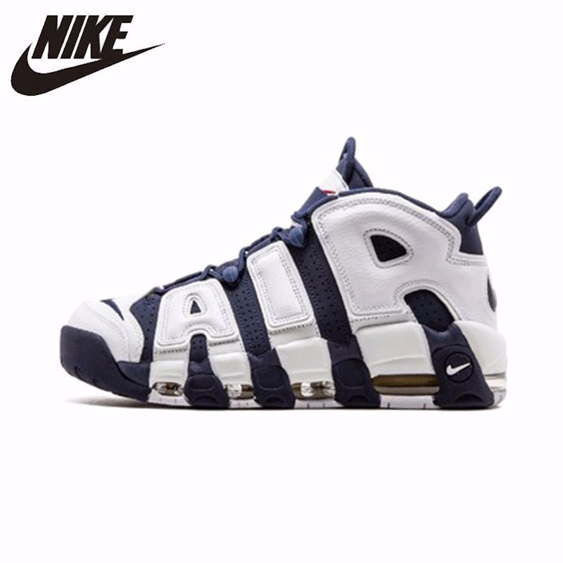 Nike Air More Uptempo Olympic Original Mens Breathable Basketball Shoes Breathable Sneakers Outdoor Soprts Shoes  #414962-104Nike Air More Uptempo Olympic Original Mens Breathable Basketball Shoes Breathable Sneakers Outdoor Soprts Shoes  #414962-104