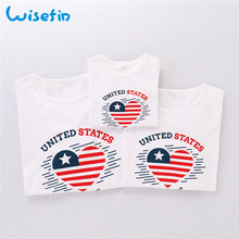 Wisefin Family Clothing T-Shirt Kids Girls Boy Tops 3-7 Years Boy Girls Tees Tops Kids For Mother Father Tops Family Summer Tees