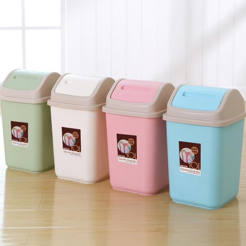 innovative shake cover trash can household bathroom