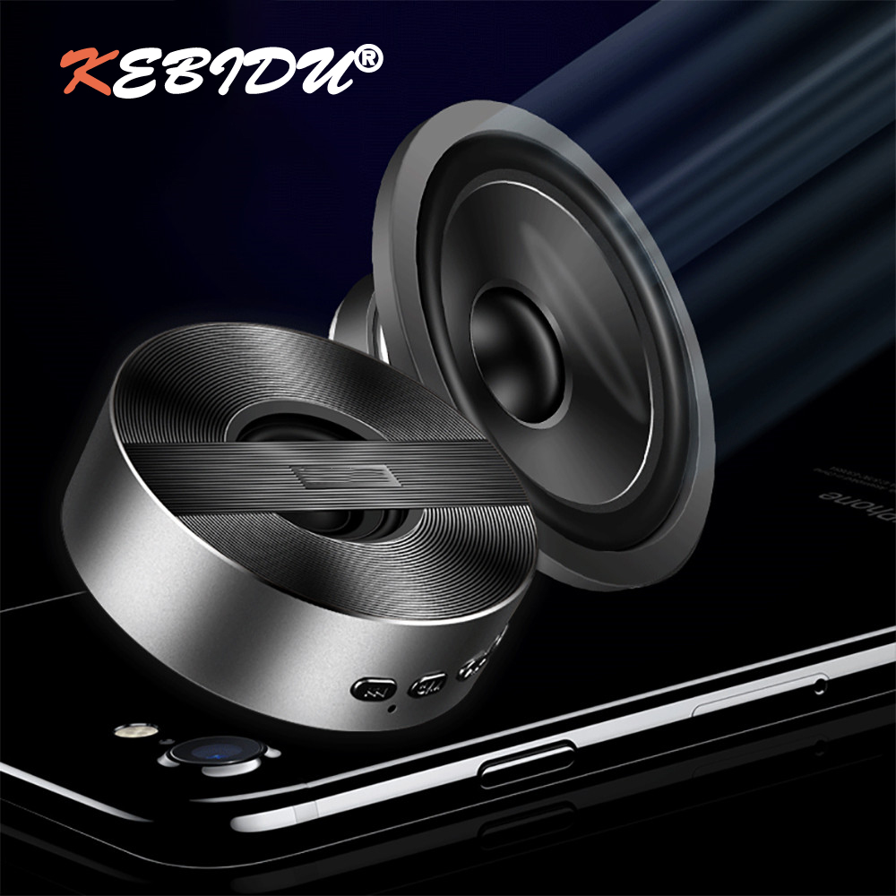 KEBIDU Mini Portable A5 Wireless Bluetooth Speaker Speaker Subwoofer Bass Support TF Card FM Stereo Hi-Fi Boxes With Mic AUX