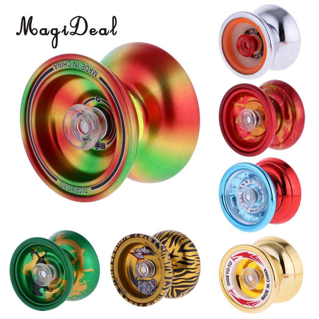 MagiDeal 1Pc Professional YoYo Aluminum Alloy String Trick Yo-Yo Ball KK Bearing for Beginner Adult Kids Classic Toy 7Kinds