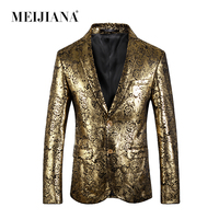 Tuxedo Wedding Blazer Costume Performance Homme Suit Party Fit Gold Slim 2018 Suits Prom Men MEIJIANA