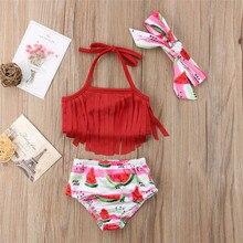 791a1b13fa hirigin US Toddler Kid Baby Girls Bikini Set Fruit Swimwear Swimsuit  Watermelon
