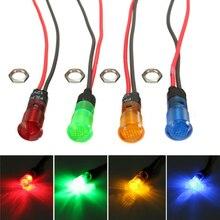 цена на LED Indicator Light 10mm Signal Lamp AC 220V Car Marine Boat LED Warning Dashboard Signal Lights Pilot Lamp Red Green