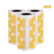 3 рулона мультфильм точные Термоэтикетки рулон 2,17* 1.18in сильноклейкая лента для PeriPage A6 карманный BT термопринтер