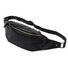 цены Fashion Men PU Leather Waist Packs Travel Bumbag Belt Bags Male Shoulder Bag Phone Coin Large Capacity Crossbody Chest Pack Male