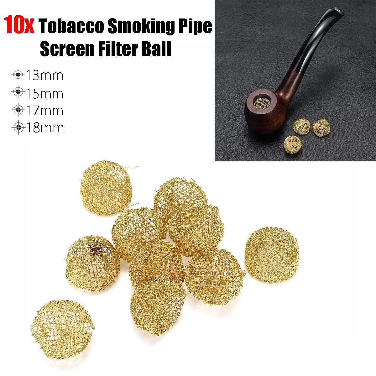 10Pcs Tobacco Smoking Pipe Metal Filter Screen Steel Mesh Rimmed Dome Bong Shake