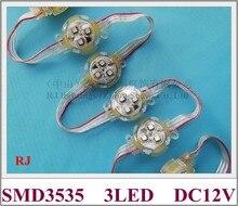 LED 픽셀 빛 모듈 WS 2811 노출 된 빛 문자열 포인트 빛 WS8206 / WS2811 SMD3535 3 LED DC12V 30mm * 30mm * 15mm 프로그래밍 가능
