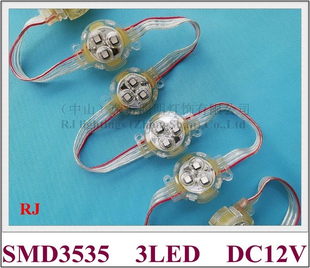 Oświetlenie pikselowe led moduł WS 2811 odsłonięte światło punktowe WS8206 / WS2811 SMD3535 3 LED DC12V 30mm * 30mm * 15mm programowalne
