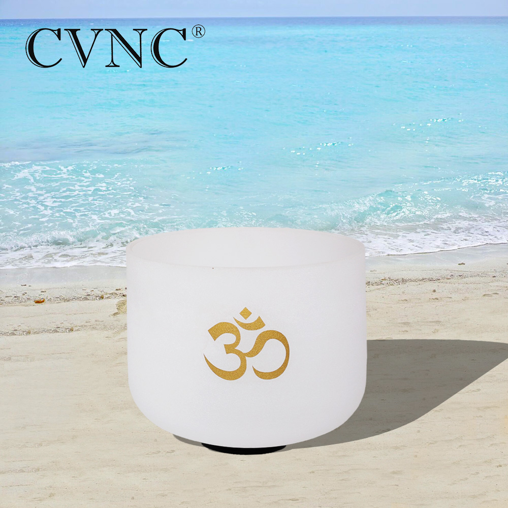 CVNC OM design  440Hz or 432Hz 8  Note C/D/E/F/G/A/B Chakra Frosted Quartz Crystal Singing Bowls CVNC OM design  440Hz or 432Hz 8  Note C/D/E/F/G/A/B Chakra Frosted Quartz Crystal Singing Bowls