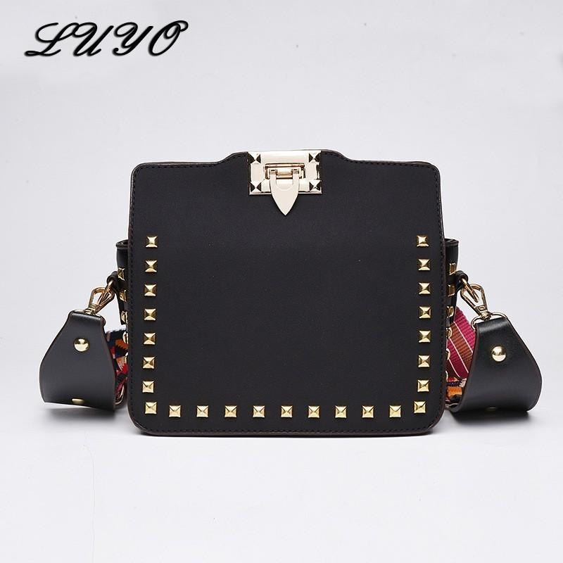 2019 Rivet Luxury Handbags Women Bags Designer Crossbody Bag For Female Modis Bolsas Feminina Clutch Messenger Bag Famous Brand Сумка