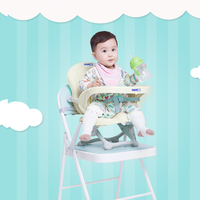 Portable Folding Baby Kids Dinner Chair Booster Seat Feeding Removable Dinner Plate Table Adjustable Height Children Chair