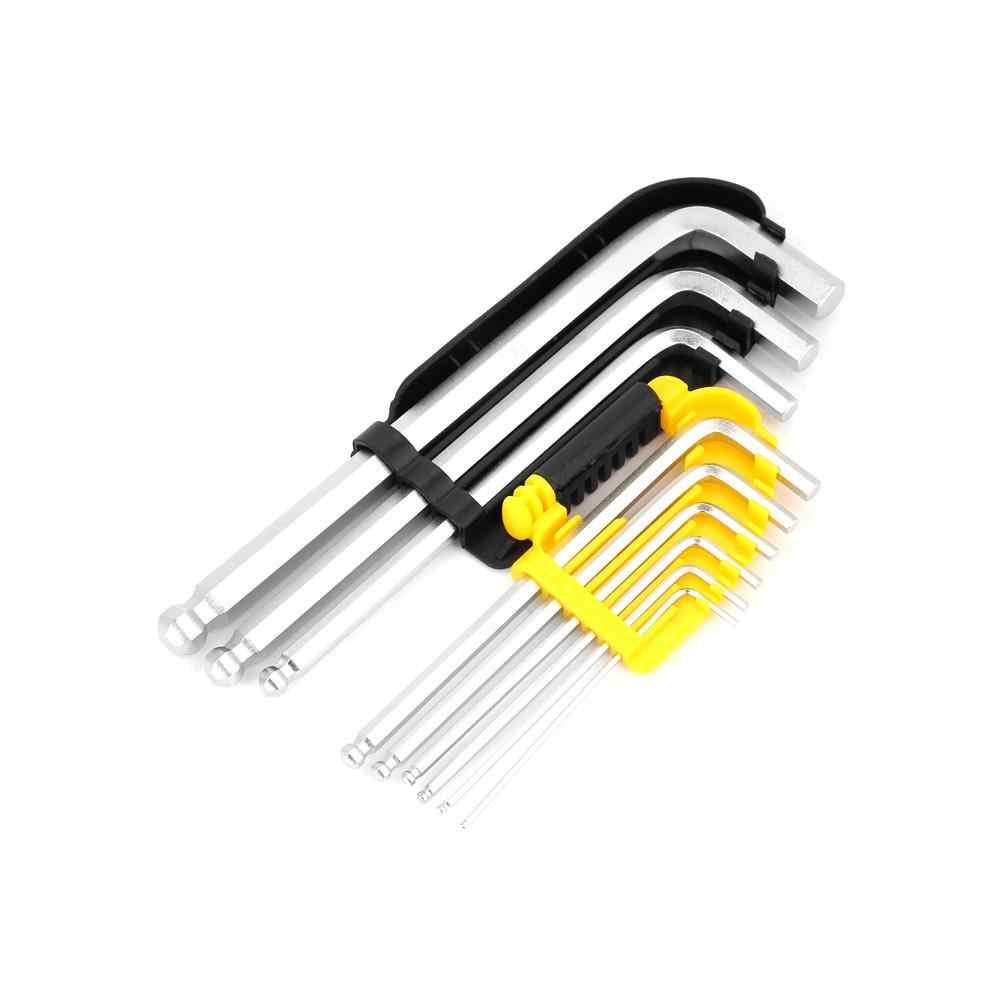 9 шт. шестишестигранный ключ 1,5 мм-10 мм шаровой конец шестигранные ключи-Отвертки Набор отверток ручные инструменты скидка