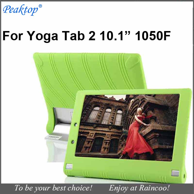 Galleria fotografica For Lenovo Yoga tablet 2 1050f 10.1&quot silicon cover case yoga tab 2 10 10.1 inch 1050f silica gel soft protective bag Yoga ta