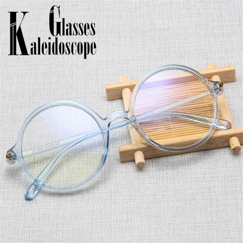 Smart High Quality Fashion Round Glasses Frame Women Men Myopia Eyeglasses Frames Blue Light Glasses Female Retro Fake Glasses Fast Color