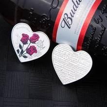 Pièce commémorative de la saint-valentin, 1 pièce de 38mm, cœur Rose, pièce de monnaie, jeu d'émulation, I Love You, artisanat, monnaie