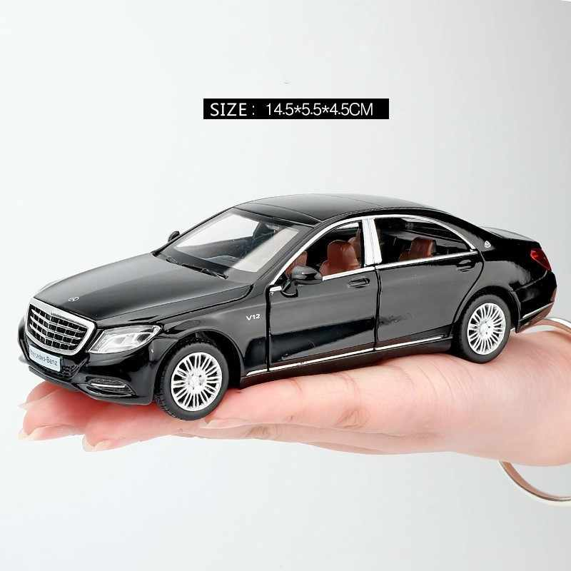 1/32 Maybach S600 Diecast Metal Car Models High Simulation Vehicle Toy With Light Music 6 Doors Can Be Opened Gifts For Children