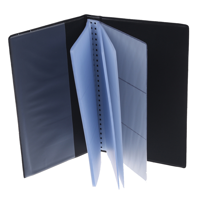 Cowhide Leather Men Women Wallet ID Business Credit Card Book Tall Organizer 120