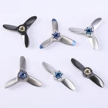 NEW Propeller Hand Spinner Stainless Steel Titanium Alloy Fidget Spinner Metal Anti Stress Finger Spiner Wing Tips Roast Color